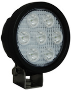 "4"" ROUND UTILITY MARKET BLACK WORK LIGHT SEVEN 3-WATT LED'S 10 DEGREE NARROW BEAM"