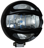 "6"" BLACK 100 WATT HALOGEN EURO BEAM LAMP WITH ROCK GUARD"