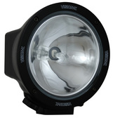 "6.7"" ROUND BLACK 100 WATT TUNGSTEN SPOT BEAM LAMP"