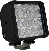 "6"" XMITTER DOUBLE STACK BAR BLACK 16 3-WATT LED'S EURO"