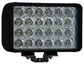 "8"" XMITTER DOUBLE STACK BAR BLACK 24 3-WATT LED'S EURO"