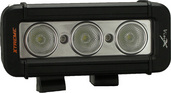 "5"" XMITTER LOW PROFILE PRIME XTREME BLACK THREE 5-WATT LED'S 40 DEGREE WIDE BEAM"