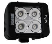 "5"" EVO PRIME DOUBLE STACK LED BAR BLACK FOUR 10-WATT LED'S 20 DEGREE NARROW BEAM"