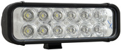 """8"""" LED LIGHT BAR BLACK TWELVE 3-WATT LED'S EURO BEAM"""