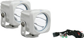 OPTIMUS SERIES PRIME WHITE 10-WATT LED LIGHT 10 DEGREE BEAM KIT OF 2 LIGHTS WITH HARNESS