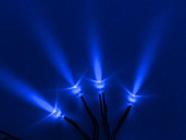 4 PACK SINGLE LED'S WITH 3 FOOT CORD BLUE