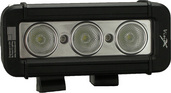 "5"" XMITTER LOW PROFILE PRIME BLACK THREE 3-WATT LED'S 40 DEGREE WIDE BEAM"
