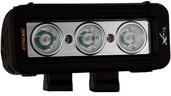 "5"" XMITTER LOW PROFILE PRIME XTREME BLACK THREE 5-WATT LED'S 10 DEGREE NARROW BEAM"
