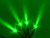 4 PACK SINGLE LED'S WITH 3 FOOT CORD GREEN