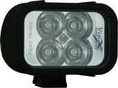 """4"""" XMITTER LED BAR BLACK FOUR 3-WATT LED'S EURO BEAM"""