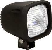 "4"" SQUARE BLACK 100 WATT HALOGEN HORIZONTAL-FLOOD BEAM"