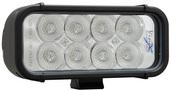 """6"""" XMITTER LED BAR BLACK EIGHT 3-WATT LED'S FLOOD BEAM"""
