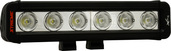 "9"" XMITTER LOW PROFILE PRIME XTREME BLACK SIX 5-WATT LED'S 40 DEGREE WIDE BEAM"