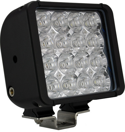 "6"" XMITTER DOUBLE STACK BAR BLACK 16 3-WATT LED'S FLOOD picture"