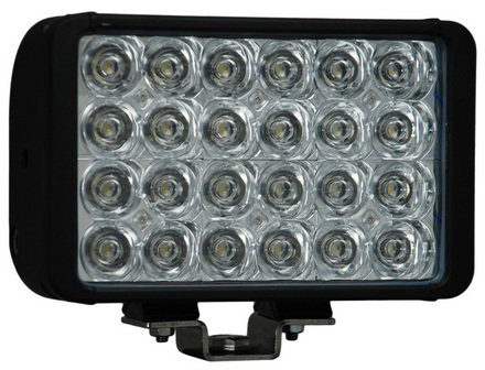 """8"""" XMITTER DOUBLE STACK BAR BLACK 24 3-WATT LED'S EURO picture"""