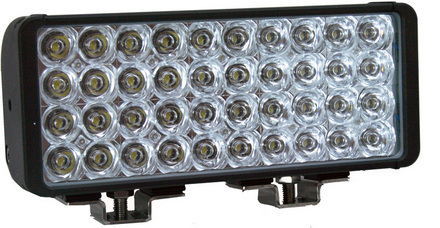"""12"""" XMITTER DOUBLE STACK BAR BLACK 40 3-WATT LED'S EURO picture"""