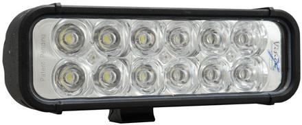 """8"""" LED LIGHT BAR BLACK TWELVE 3-WATT LED'S EURO BEAM picture"""