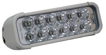 """8"""" XMITTER LED BAR WHITE TWELVE 3-WATT LED'S EURO BEAM picture"""