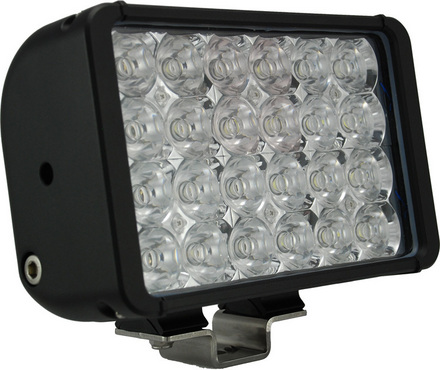 "8"" XMITTER DOUBLE STACK BAR BLACK 24 3-WATT LED'S FLOOD picture"