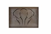 "Big Tray  - Elephant Silhouette -Esp/Blk 20x14x2"""