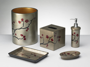 Boutique Tissue Holder - Cherry Blossom - espresso/burgundy