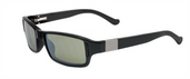 Bespoke Shiny Black / Polarized True Color Green Reflection Silver Polarized
