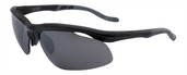 Tenaya Extreme Shiny Black / True Color Grey Reflection Silver Polarized