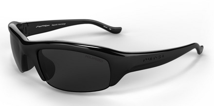 Stoke Shiny Black / True Color Grey Reflection Silver Polarized picture