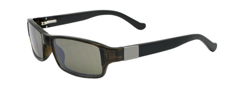 Bespoke Olive with Black Temples / Polarized True Color Grey Reflection Silver Polarized picture