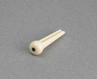 5ABP05C - Plastic Bridge Pin (Ivory w/Black Dot) picture