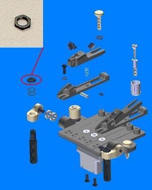 2ZR2B1 - Bearing Arm Hold Nut- ZR picture