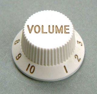 4KB1JF1W- Plastic Hat Volume Knob- White picture