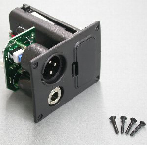 "5AJB01F - Battery Box/Jack Combo Box  2 'AA' (XLR & 1/4"") picture"