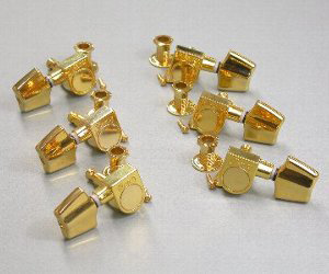 5AMH17J - Machine Head Set- Acoustic Guitar- Angled (Gold- 6mm Shaft/10mm Sleeve) picture