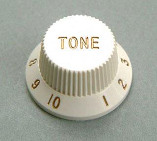 4KB1JF2W- Plastic Hat Tone Knob- White picture