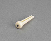 5ABP05C - Plastic Bridge Pin (Ivory w/Black Dot)