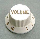 4KB1JF1W- Plastic Hat Volume Knob- White