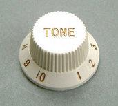 4KB1JF2W- Plastic Hat Tone Knob- White