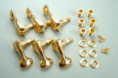 MB5100G- 6-String Machine Head Set (L6)- Gold