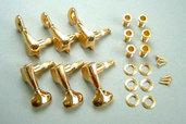 MB5100G- 6-String Machine Head Set (L6)- Gold
