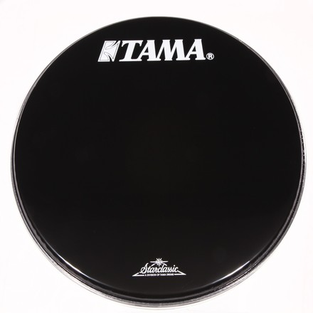 """BK20BMTT- 20"""" Starclassic Series Black Head with White TAMA and Starclassic Logo picture"""