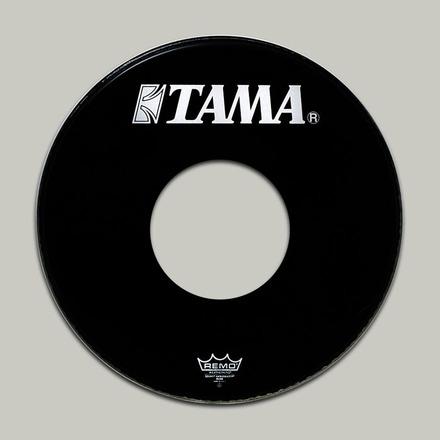 "6170BPT- 20"" Remo Ebony Ambassador Head with White TAMA Logo and 10"" Hole picture"