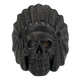 IP Black Chief Indian Skull Head Ring