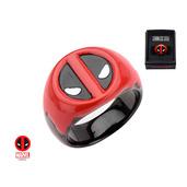 Steel Black IP Deadpool Red Blood Ring