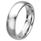 Matte Finish 6mm Wide Plain Cobalt Chrome Ring