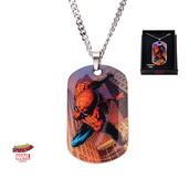 Clear Coated Spider-Man Pendant Necklace