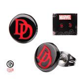 Enamel Daredevil Logo Round Ear Studs