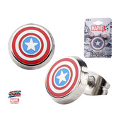 Captain America Logo Round Ear Studs