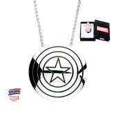 Captain America Shield Logo Pendant with Chain