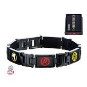 Black PVD Plated Marvel Avengers Link Bracelet